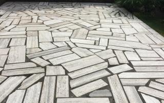 Outdoor Steinbodensanierung